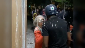 BLM protesters attacking police precinct douse elderly woman with paint, harass another using walker (VIDEOS)