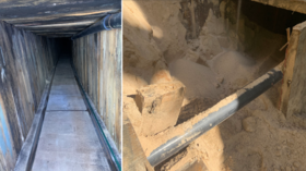'Most sophisticated tunnel in US history'? ICE uncovers 400m smuggling railway under Arizona-Mexico border (PHOTOS)