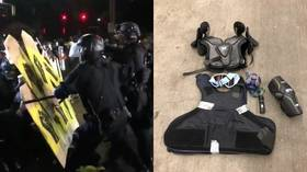 Portland protesters attack another police HQ, throw rocks and fireworks at officers (VIDEOS)