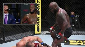 'I gotta take a sh*t': Derrick Lewis has fans in hysterics after he makes UFC history with TKO win over Oleynik (VIDEO)