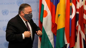 US ready 'to block Russia & China' if they disregard Iran sanctions, Pompeo warns, as Washington pushes for UN 'snapback'