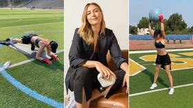 'Fit and lit': Maria Sharapova works up a sweat with sun-kissed Justin Timberlake Instagram workout (VIDEO)