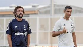 Ronaldo trains under Pirlo for first time as new Juventus boss already wields axe for one big name