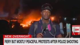 'Fiery but mostly peaceful': CNN mocked for ridiculous caption of Kenosha riots destruction