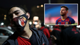 'Your dream, our desire': Fans of Lionel Messi's boyhood club Newell's Old Boys hold flashmob for star's return to Argentina