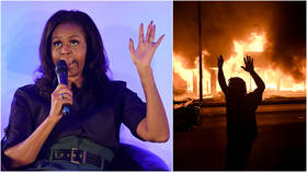 Michelle Obama hails 'swift & powerful' protests, decries racism but stays silent on riots in comment on Kenosha shootings