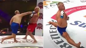 Gone in 12 seconds! Watch Ukrainian heavyweight Yuri 'Playboy' Kiselov's HUGE one-punch KO at MMA Festival (VIDEO)