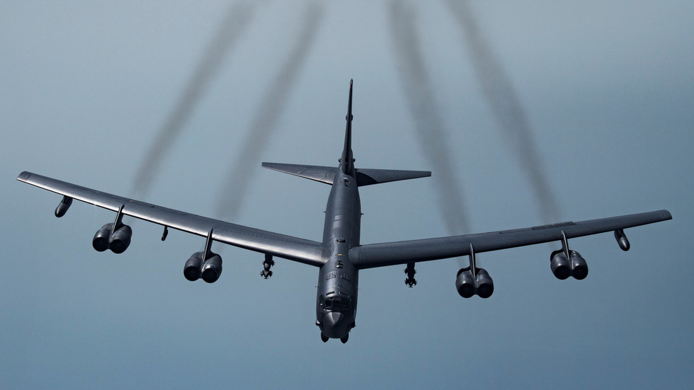 Russia scrambles EIGHT jets to intercept three US B-52 bombers testing Crimea borders over Ukraine & Black Sea
