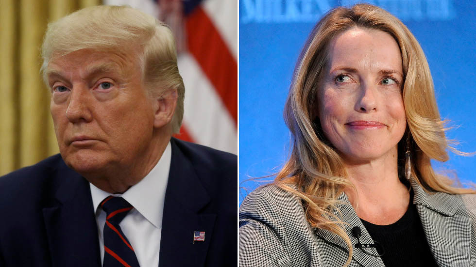 'Steve would not be happy!' Trump goes after late Apple founder's billionaire widow, who owns magazine behind 'dead losers' report