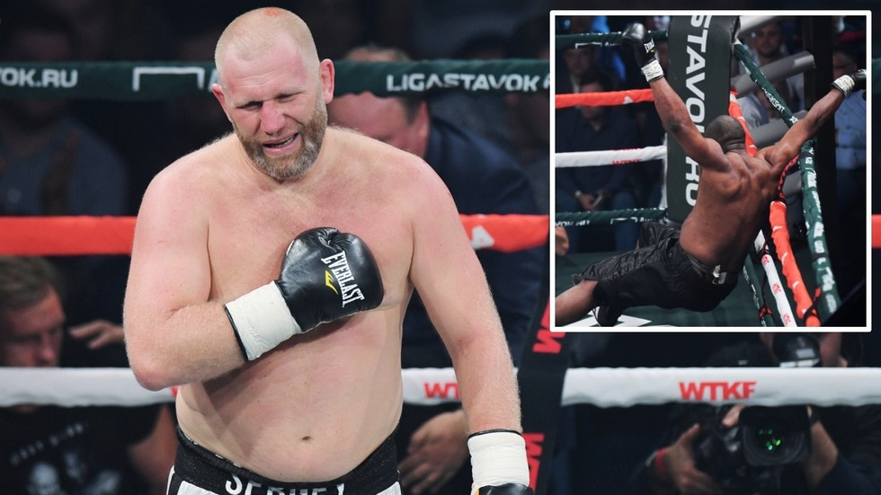 Russian MMA star Sergey Kharitonov walks to the ring with a BEAR, then knocks out opponent on pro boxing debut (VIDEO)
