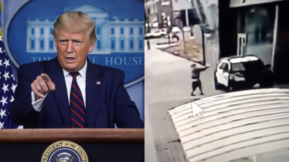 Trump wants 'DEATH PENALTY' for attacker who shot LA cops, as protesters chant 'WE HOPE THEY DIE'