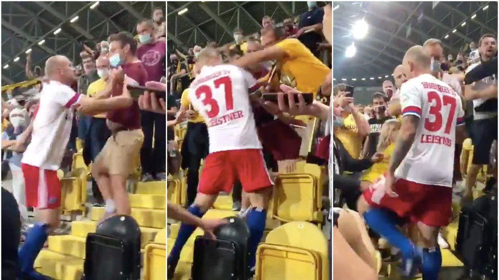 'I'm a father who wants to be a role model': German defender enters crowd to brawl with fans after wife & daughter verbally abused