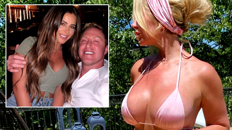 'You're f*cking SICK': Ex-NFL star's wife blasts 'DISGUSTING' trolls who taunted daughter over photo sitting on stepdad's LAP