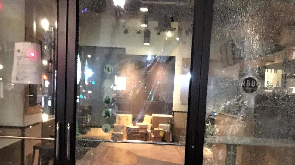 Riots return to Portland as protesters attack businesses, burn flags and force motorists to pledge loyalty to BLM (PHOTOS, VIDEOS)