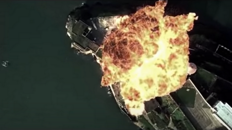 China uses clips from 'Transformers' & 'The Rock' in VIDEO showing nuclear bombers simulating attack on apparent US military base
