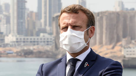 French President Emmanuel Macron visits Beirut, Lebanon, on September 1, 2020.