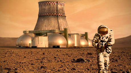 Artist's impression of a colony on Mars. © Wikimedia Commons / D Mitriy