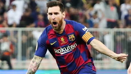 Staying under protest? Lionel Messi will remain with Barcelona for the coming season