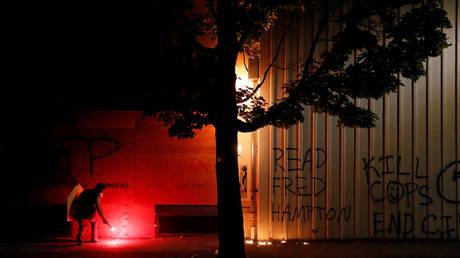 FILE PHOTO: Portland Police North Precinct building, Oregon, US, August 23, 2020.