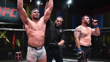 Looking to challenge: 40-year-old UFC heavyweight contender Alistair Overeem
