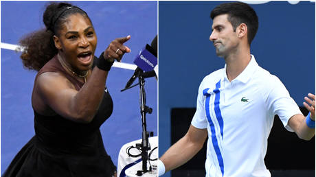 Serena Williams and Novak Djokovic - Reuters USA Sports Today (left); Reuters / Danielle Parhizkaran (right)