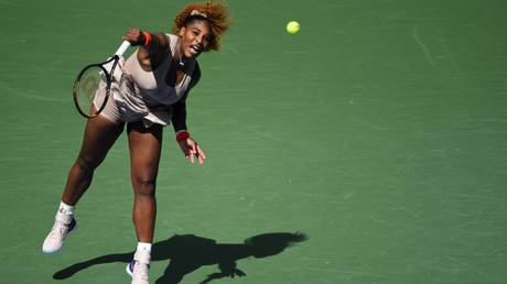 Ton up: Serena Williams defeats Maria Sakkari to reach US Open quarter-finals and claim century of wins at Arthur Ashe Stadium