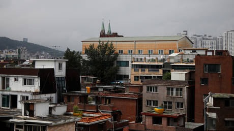 The Sarang Jeil Church, which has become a new cluster of coronavirus disease (COVID-19) infections, is seen in Seoul, South Korea, August 21, 2020.