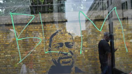 FILE PHOTO. A BLM graffiti is seen in London, Britain.