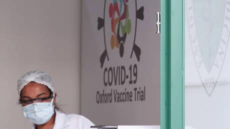 A June 24, 2020 file photo of one of the locations for the Oxford/AstraZeneca coronavirus vaccine trials, in Sao Paulo, Brazil.