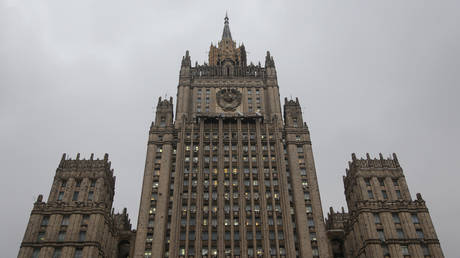 FILE PHOTO: Russian Foreign Ministry's building.