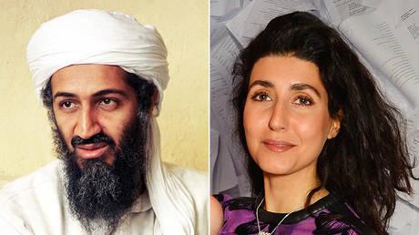 (L) Osama bin Laden © Universal History Archive/Getty Images; (R) Noor Bin Laden © Getty Images/David M. Benett/Dave Benett