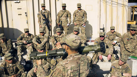 US soldiers receiving training in rocket launcher use at forward operating base Gamberi in the Laghman province of Afghanistan, December 29, 2014 file photo.