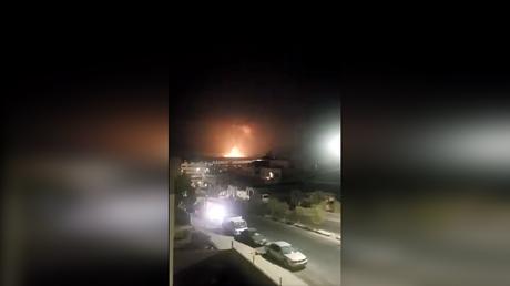 An explosion rocks Zarqa, Jordan.