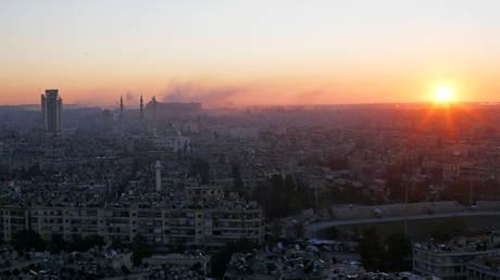 FILE PHOTO: The sun rises over Aleppo, Syria.