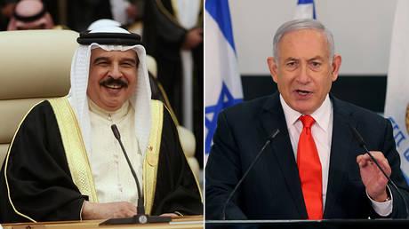 (L) Bahrain's King Hamad bin Isa Al Khalifa © REUTERS/Hamad l Mohammed; (R) Israeli Prime Minister Benjamin Netanyahu © Pool via REUTERS / Alex Kolomoisky