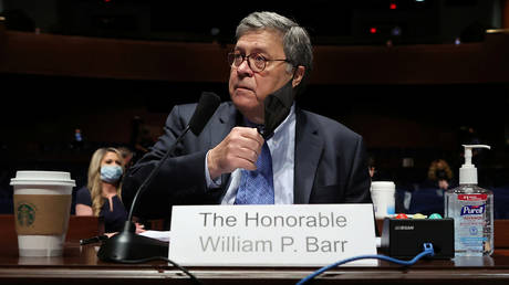 Attorney General William Barr (July 28, 2020 file photo) asked Durham to investigate the 'Russiagate' probe.