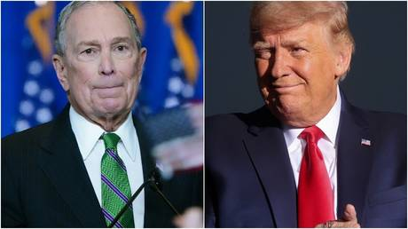 Media tycoon and Former Democratic US presidential candidate, Mike Bloomberg / Carlo Allegri; US President, Donald Trump © Reuters / Jonathan Ernst