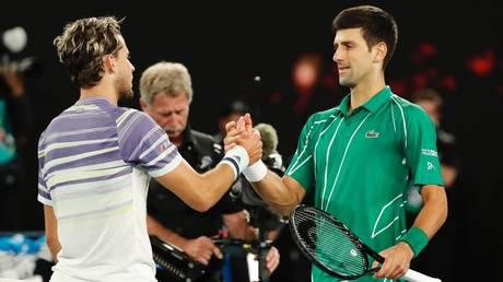 Respect: Novak Djokovic and Dominic Thiem