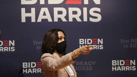 Democratic Vice Presidential Nominee Sen. Kamala Harris (D-CA) at Florida Memorial University on September 10, 2020 in Miami Gardens, Florida