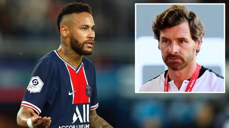 Staunch defense: Andre Villas-Boas (inset) refuted Neymar's racism claims