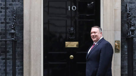 FILE PHOTO: US Secretary of State Mike Pompeo in London
