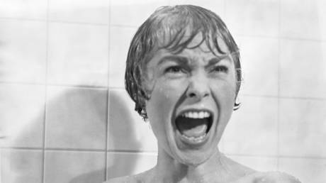 In the shower scene from the film Psycho, Marion Crane (played by Janet Leigh) screams in terror as Norman Bates tears open her shower curtain