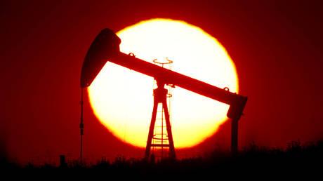 FILE PHOTO: An oil pump outside Saint-Fiacre, near Paris, France © Reuters / Christian Hartmann