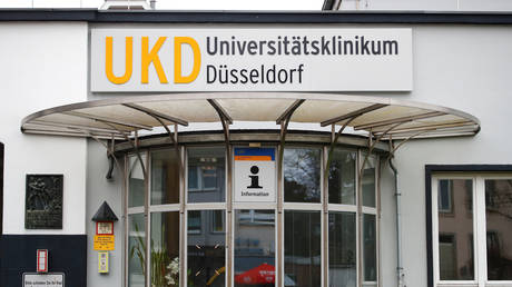 FILE PHOTO:  The Duesseldorf university clinic, in Duesseldorf, Germany, February 26, 2020.