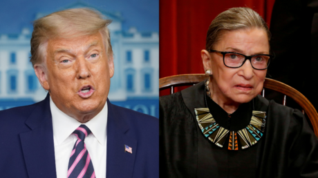Donald Trump and Ruth Bader Ginsburg © Reuters / Kevin Lamarque and Jonathan Ernst