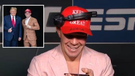 Donald Trump called Colby Covington after his victory in Las Vegas. © Twitter @ESPN / Instagram @colbycovmma