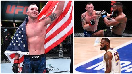 Colby Covington had choice words for beaten UFC rival Tyron Woodley and NBA star LeBron James. © Getty Images / Zuffa LLC / USA Today Sports