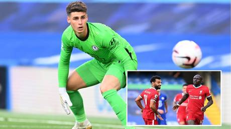 Kepa was guilty of another howler against Liverpool as Mane scored. © Reuters