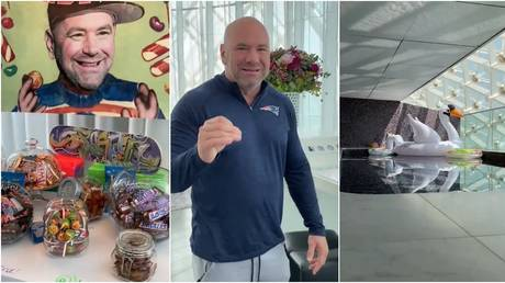 Dana White gave UFC fans a tour of his humble Fight Island home. © Twitter @danawhite