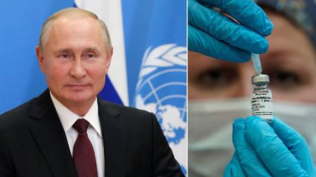 (L) © Sputnik/Mikhail Klimentyev/Kremlin via REUTERS; (R) © REUTERS/Tatyana Makeyeva